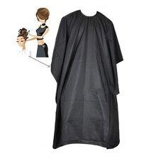 Ручная работа черный салон парикмахеры накидка мантия Парикмахерские стрижки волос водонепроницаемый халат ткань MH88