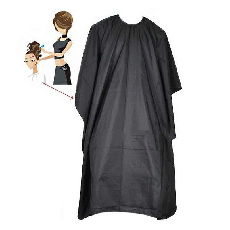 Handmade Black Salon Barbers Cape Gown Hairdressing Hair Cutting Waterproof Gown Cloth MH88(China)