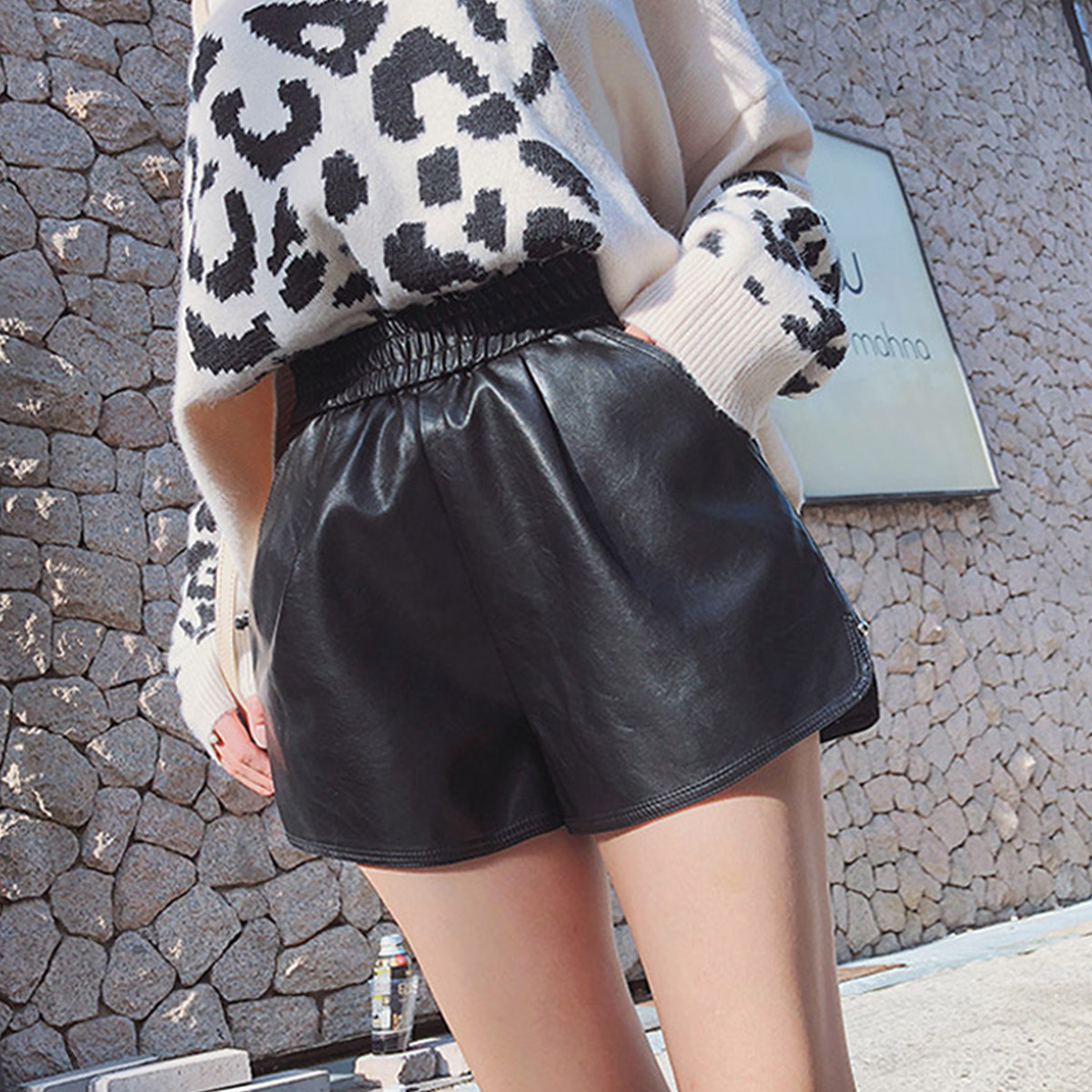 Shorts Spring Black Female High-Waist Korean-Version Straight New The of Loose Tooling