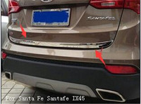 304 Stainless Steel Accessories Fit For Hyundai Santa Fe Santafe IX45 2013 2014 2015 2016 Rear