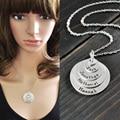 Пользовательские имя ожерелье, выгравированы именами членов семьи ожерелье, персонализированные название диска стека ожерелье
