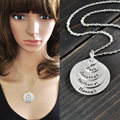 Custom name necklace,engraved family member names necklace,personalised stack disc name necklace