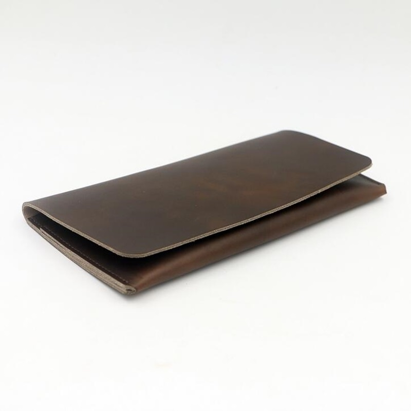 Men Genuine Leather Wallet Solid Slim Long Mens Business Clutch Wallets Male Card Holder Purse Phone Bag Billetera Hombre 2017 genuine leather men business wallets coin purse phone clutch long organizer male wallet multifunction large capacity money bag