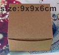50PCS/Lot Brown Kraft Craft Paper Jewelry Pack Boxes Small Gift Box For Biscuits Handmade Soap Wedding Party Candy Packaging Box