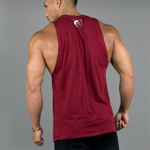 Mens Sleeveless T-shirts Summer Cotton Male Tank Tops High Quality Gyms Bodybuilding Sportswear Clothing Undershirt Tank Tops