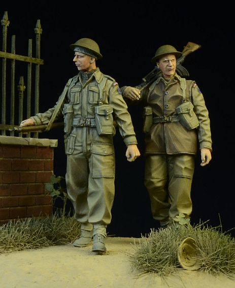 pre order-Resin toys 35015 - British/Commonwealth Infantry walking 1942-45  Free shipping resin kits 1 35 scale the german infantry squad resin model diy toys