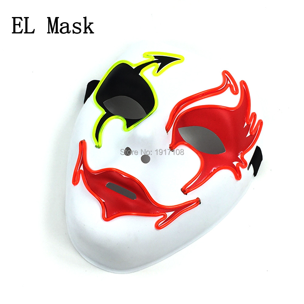 Free shipping Sound Activated Glow Party prop Shuffle Dance mask ...