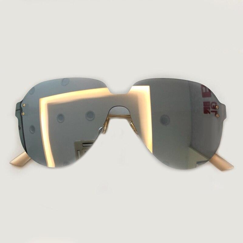 Cat Eye Sunglasses Women 2019 Brand Designer Metal Frame Oversized Sun Glasses Fashion Female Gradient Shades