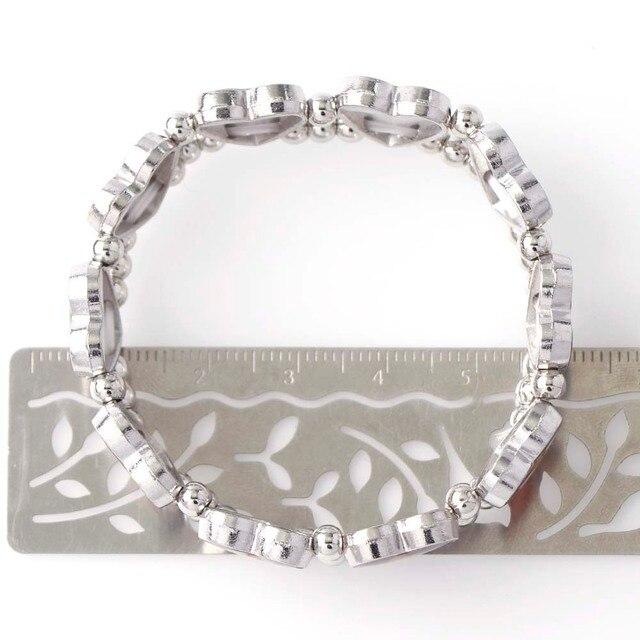 1 pièces Bracelet en alliage élastique coeur Saints catholiques, Images catholiques aléatoires Religion bijoux