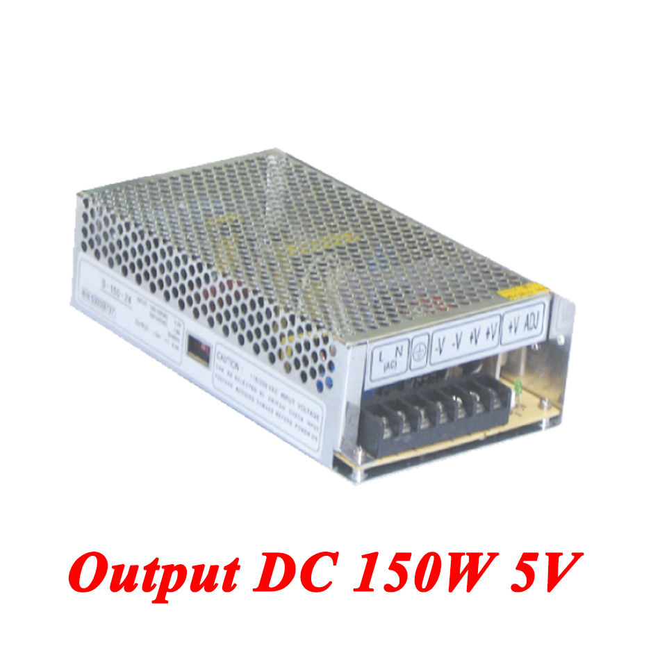 S-150-5 150W 5v 30A Single Output ac-dc switching power supply for Led Strip,AC110V/220V Transformer to DC 5V,led driver s 201 5 201w 5v 40a single output ac dc switching power supply for led strip ac110v 220v transformer to dc 5v led driver
