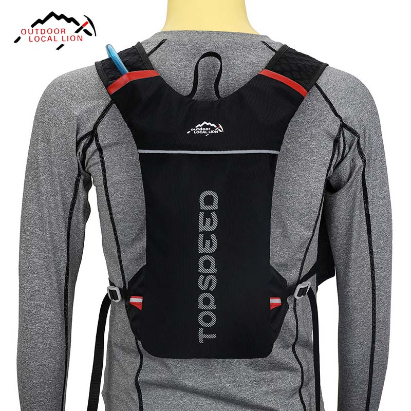 LOCAL LION 5L Waterproof Running Backpack, Jogging Trail Running Bag, Lightweight Marathon Sport Rucksack No Water Bag