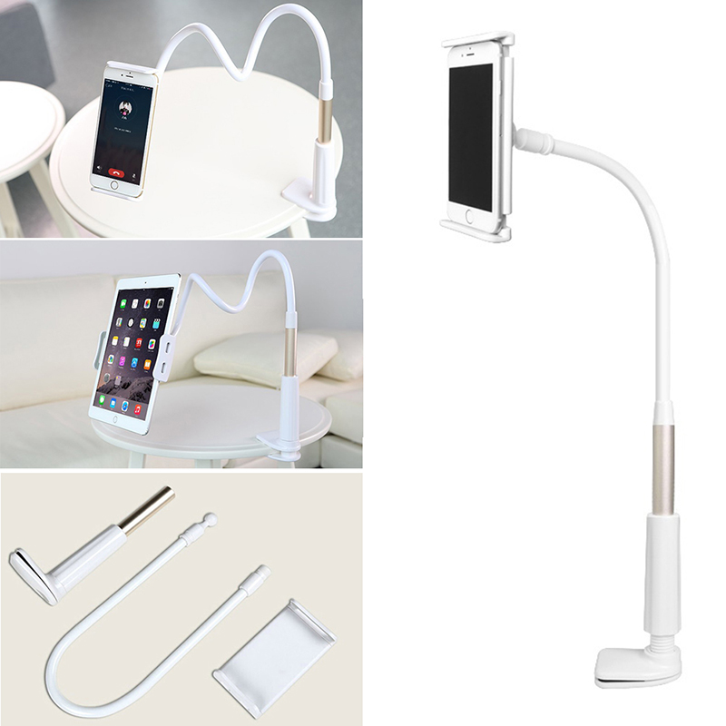 360 Degree Lazy Flexible Tablet Phone Holder 85cm Desktop Mount Bracket Stand Rotating For iPad For Samsung Tab Within 4-11.6