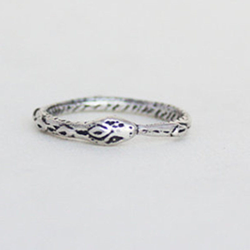 Image 2 - Ouroboros ring Charming ancient silver plated ring restoring ancient wayssilver ringouroboros ringring charms
