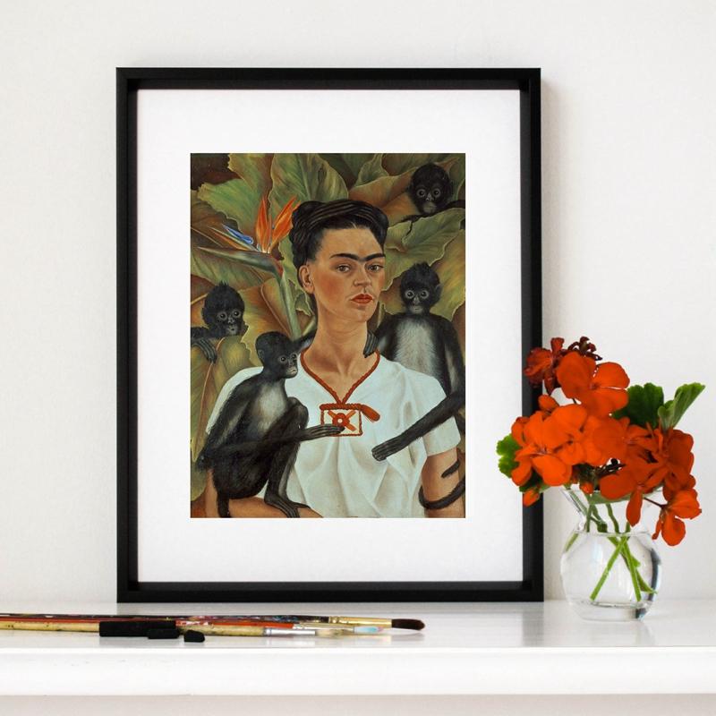 Frida Kahlo Feministischen Kunstwerk Leinwand Kunstdruck Wall Poster ...
