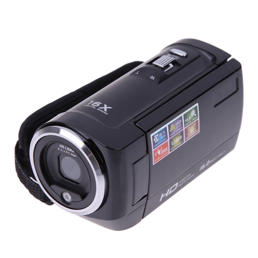 ALLOET Full HD AV 720P 16MP Automatic Digital Camera Video Camcorder Camera DV DVR 2.7TFT LCD 16x CMOS Sensor ZOOM Camera