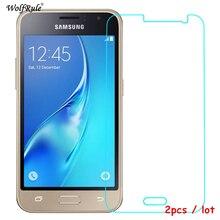 2 piezas de Protector de pantalla para Samsung Galaxy J1 2016 vidrio templado para Samsung Galaxy J1 2016 vidrio J120 película para Samsung J1 2016
