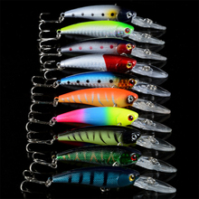 LY Fishing H041 10pcs 8color 9cm 8.5g 6# hook Fishing Lure Tackle Winter Fishing Accessories Lure Wobbler Spoon Jig Fly Set