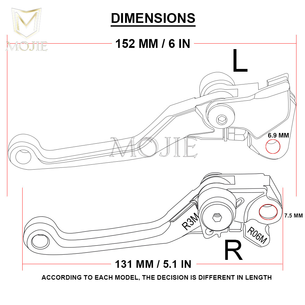 For Honda Cr80r Cr85r Cr125r Cr250r Crf150r Crf230f Crf250l Crf250r Wiring Diagram Crf250x Crf450r Crf450x Crm250r Pivot Brake Clutch Levers In Disks From