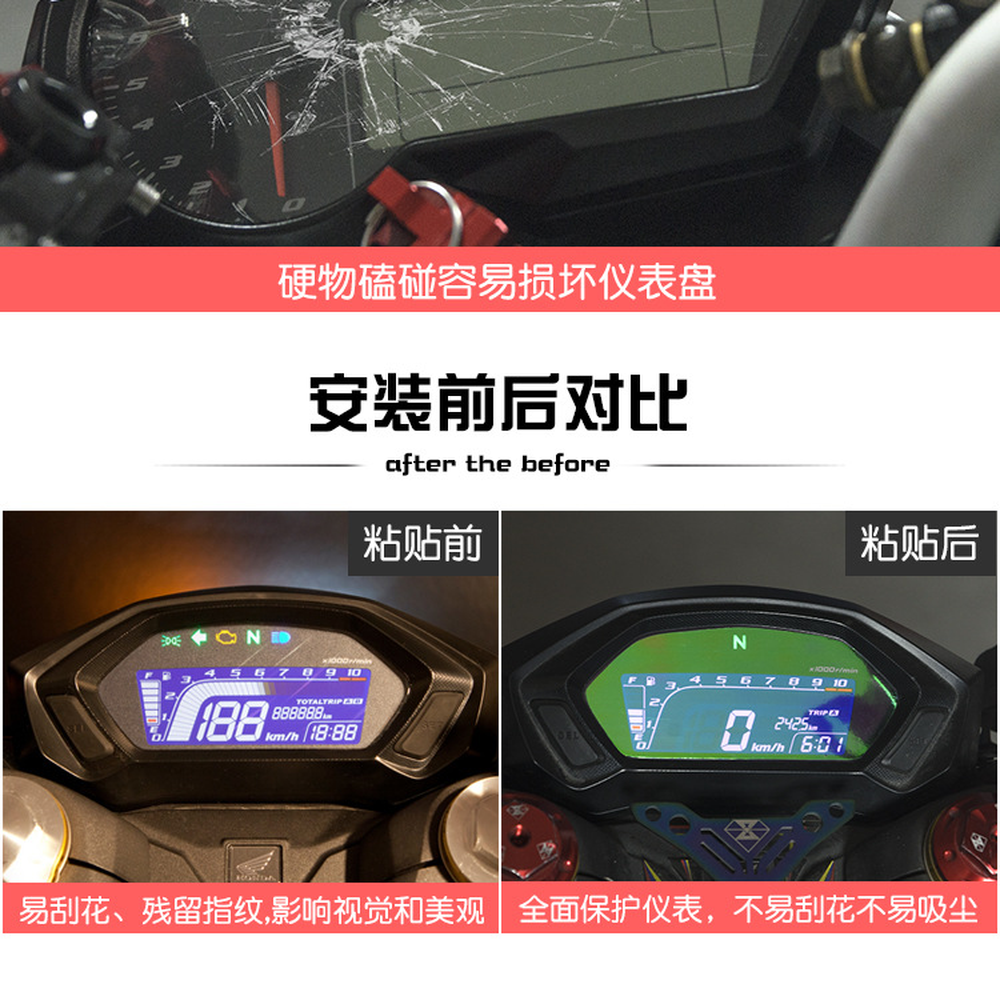 Motorcycle Speedometer Cluster Scratch Protection Film For Honda CBF190X CB190R