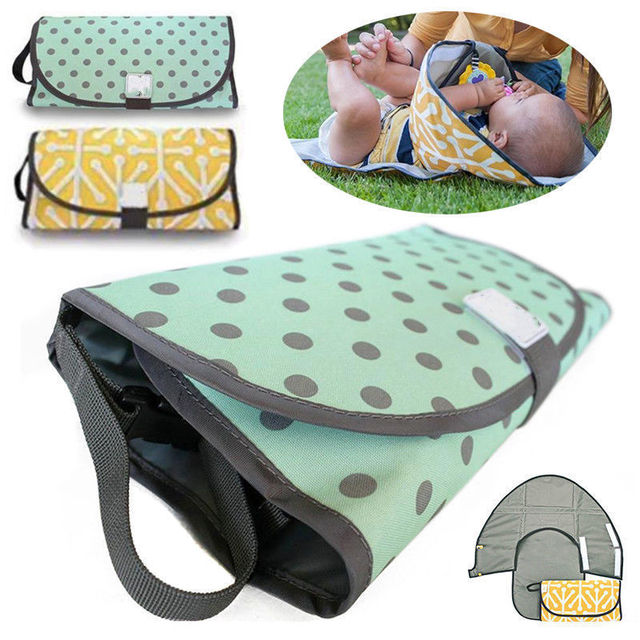 2018 Changing Pad Baby Cover Portable 3in1 Mat Folding Diaper Bag Kit