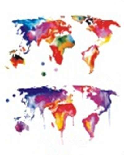 Waterproof temporary fake tattoo stickers watercolor red world map waterproof temporary fake tattoo stickers watercolor red world map design in temporary tattoos from beauty health on aliexpress alibaba group gumiabroncs Image collections
