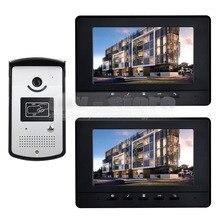 DIYSECUR 800×480 7 pulgadas Video de La Puerta Sistema de Intercomunicación Teléfono Timbre Seguridad Para El Hogar RFID LED Cámara de Visión Nocturna