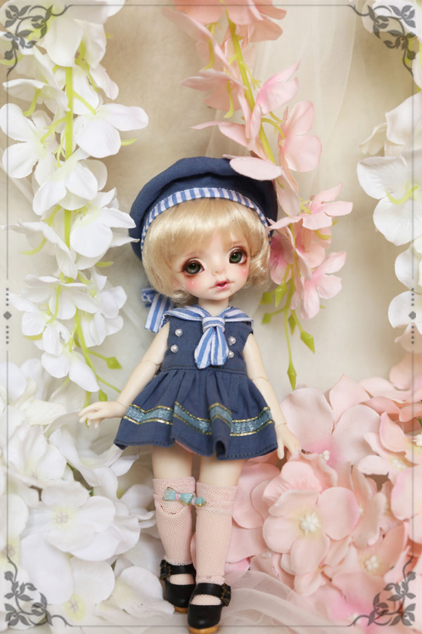 BJD doll clothes suit dark blue Western style clothes Sailor suit for 1/6 1/8 BJD Imda3.0 doll clothes accessories