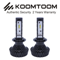 2 unids Kit de Conversión del Bulbo H7 Faros LED Super Bright 6500 K 6000LM IP68 Auto LED H7 Faros H1 H3 H8 H11