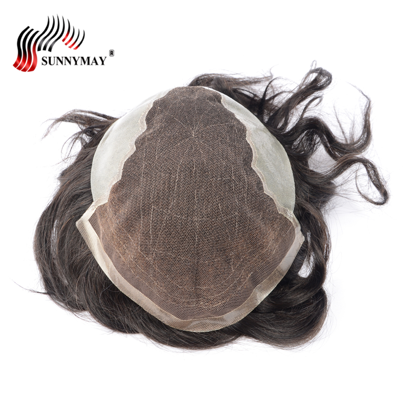 Sunnymay Swiss lace front hair natural toupee , men wig , hair men toupee , Hair Replace ...