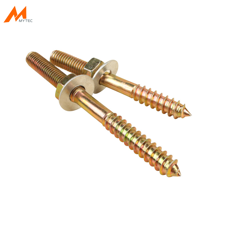 10 Set M8 Double End Threaded Machine Self Tapping Screw Bolt Kit with Washer and Nut10 Set M8 Double End Threaded Machine Self Tapping Screw Bolt Kit with Washer and Nut