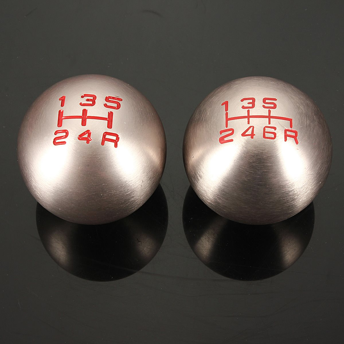Aluminum Round 5/6 Lever Speed Manual Shift Knob Gear ...
