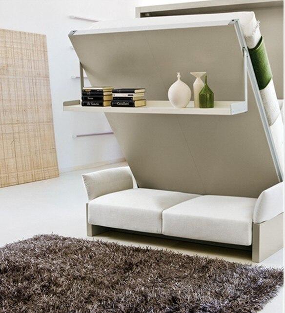 Mini apartamento decoração de móveis wallbed aparece em