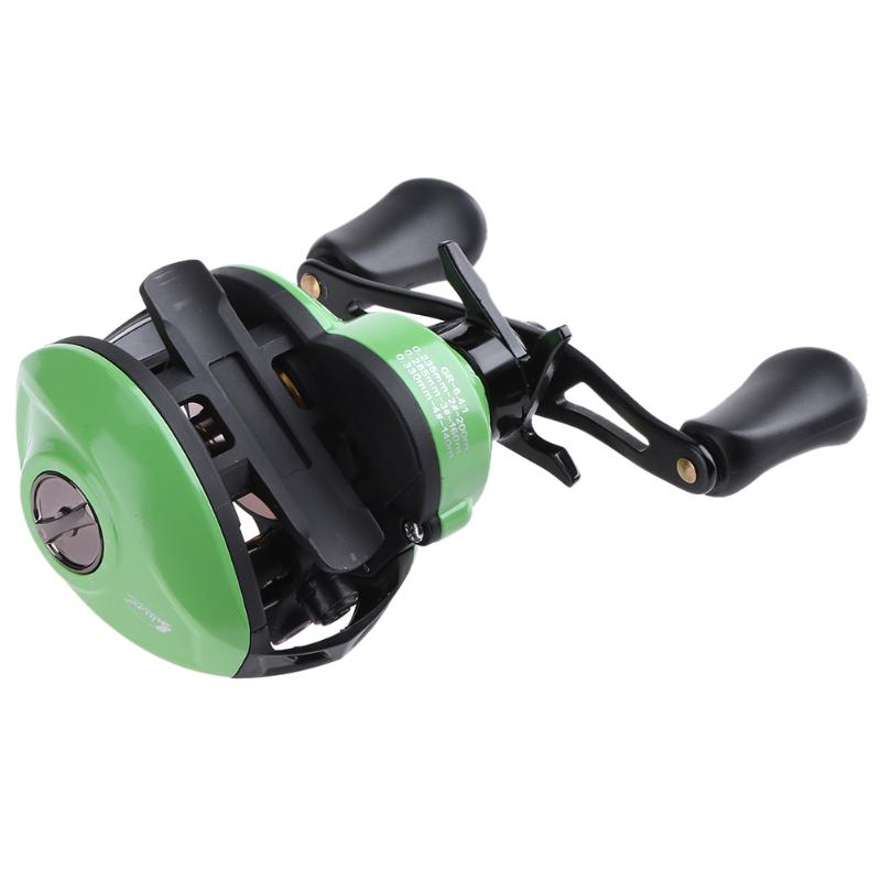 Stainless Steel Right Hand 9+1 BB 6.4:1 Magnetic Brake Low-Profile Baitcasting Fishing Reel Tool for Fishing.