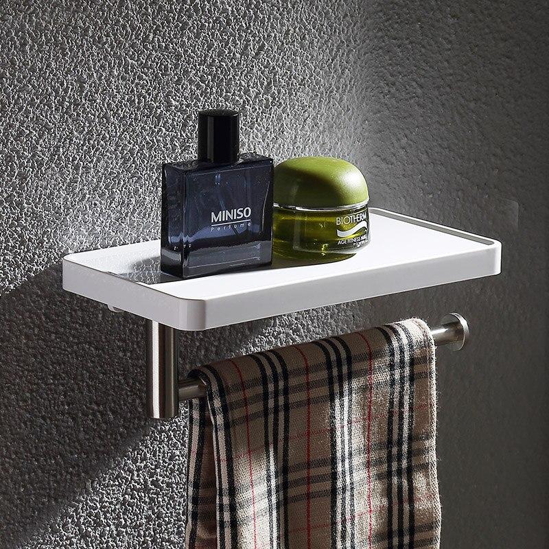 Популярный белый абс пластмасса и полка из нержавеющей стали для ванной комнаты с полотенцесушителем для ПОЛОТЕНЦЕДЕРЖАТЕЛЬ для ванной комнаты Аксессуары для оборудования