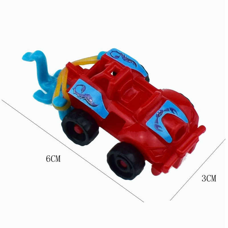 1PC DIY Plastic Assembled Racing Car Model Toy Motorcycle Kids Education Mini Toys for Children Christmas Gifts Random Color