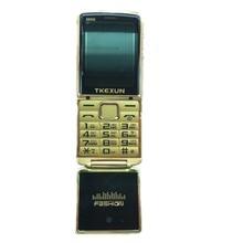 Новинка 2017 года оригинальный tkexun 8800 флип телефон 2.8 «Dual SIM Камера MP3 MP4 двойной факел Роскошный сотовый телефон