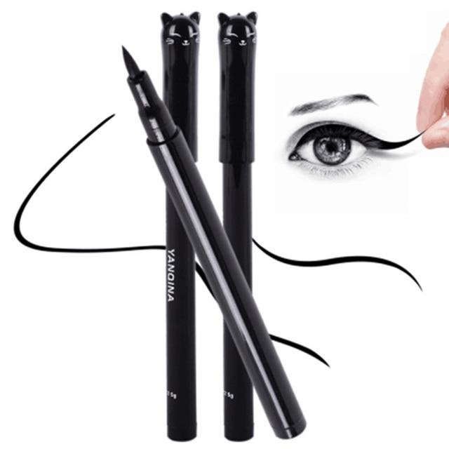 1 Pc NEW Cat Style Black Long-lasting Waterproof Eyeliner Liquid Eye Liner Pen Pencil Makeup Cosmetic Beauty Tool Free Shipping