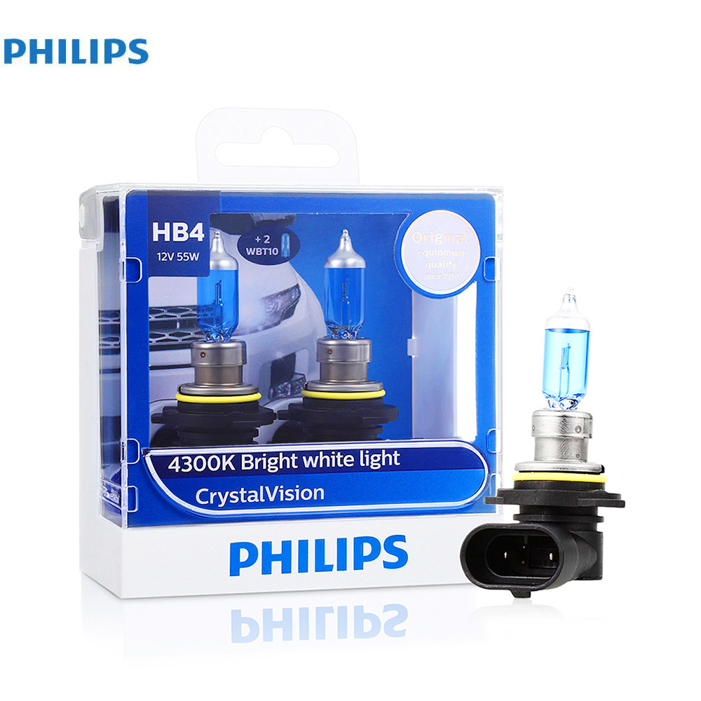 original Philips Pair of Hb4 Car Halogen Headlight 12V 55W Vision Bulb Car Head lights ...