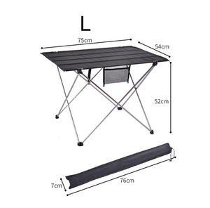 Image 5 - Hot Koop L Size Portable Opvouwbaar Opvouwbare Tafel Bureau Camping Outdoor Picknick Aluminium Ultra Licht