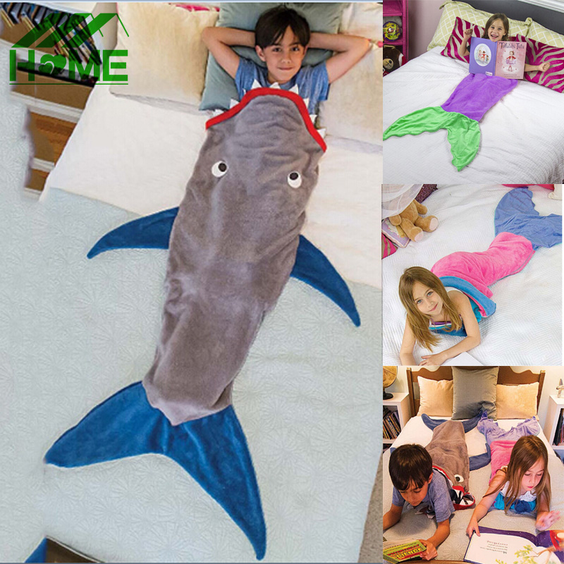 Mermaid Or Shark Blankets For $17.70 Shipped