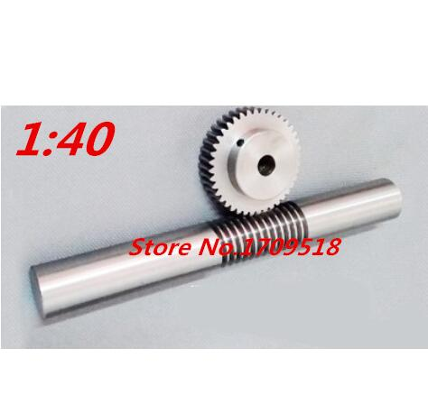 10 sets 1M40t 40 teeth worm gear reduction ratio 1 40 worm rod length 140mm