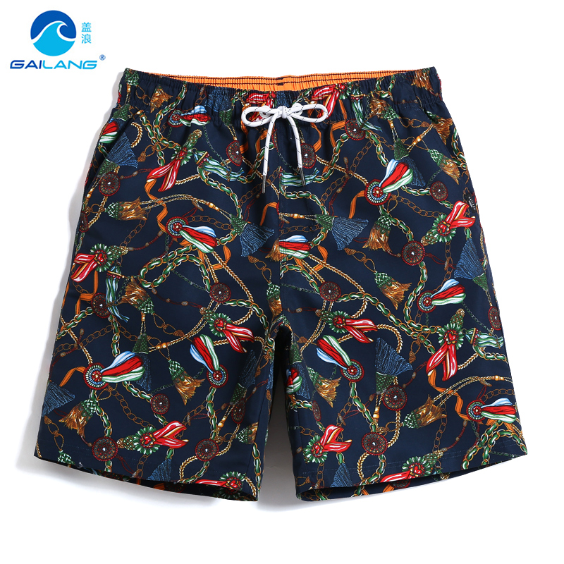 Swimming trunks Men's   Board     shorts   bathing suit quick dry surfing swimwear beach   shorts   fitness printed briefs swimsuit liner