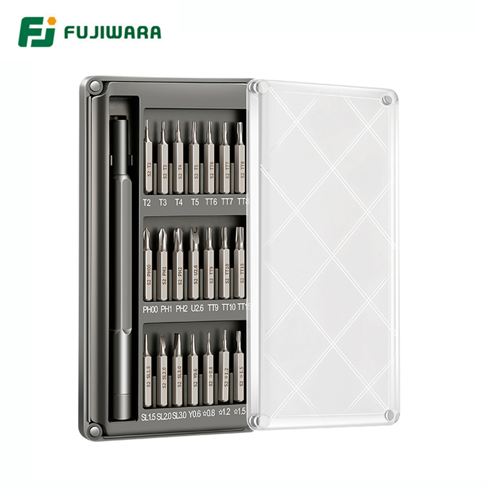 FUJIWARA 21PCS Precision Screwdriver Sets Mini Magnetic Screwdriver Set For Phone PC Ipad Camera Repair DisassembleTools