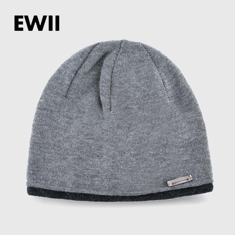 2017 New Solid Beanies Autumn Winter Hats For Men Skullies Bonnet Cap Men Knited Wool Caps Gorro Boy Warm Beanie Hat Bone