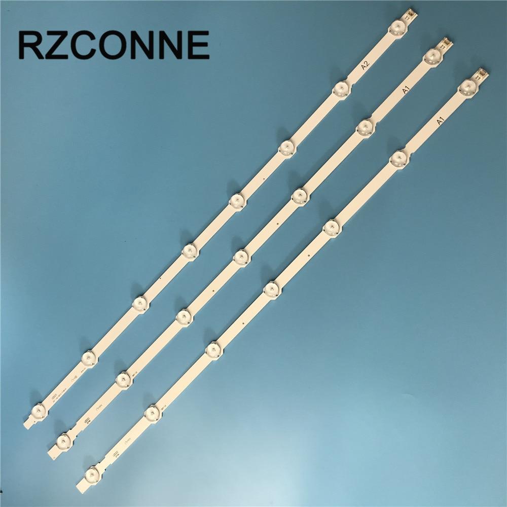 630mm 7/8 led LED Bandes pour LG Sumsang 32 ROW2.1 Rev0.9 TV 6916L-1204A/1205A/ 1296A/1295A/1440A/1439A 32LN613V 3 pcs