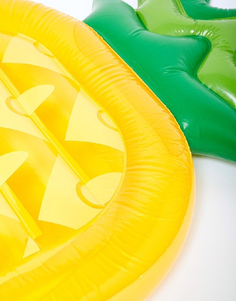 inflatable pineapple pool float inflatable air mattress float pool swimming bed adult pool inflatable toys swim ring tube raftsin life buoy from sports