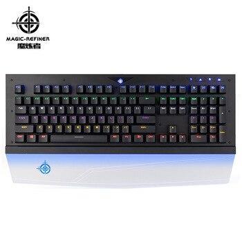 MK8 mechanical keyboard blue luminous hand pad game keyboard 108 key RGB backlight keyboard blue switch For PC Game Keyboards