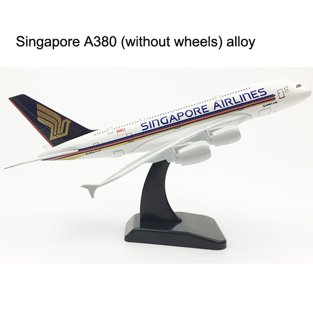 20CM Singapore Airlines Boeing 747 Airplane model Airbus A380 Plane model Aircraft model 16CM Alloy Metal Diecast Toy plane