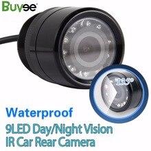 Buyee câmera veículo 9 LED HD Visão Nocturna do IR Câmera de Visão Traseira Do Carro À Prova D' Água Câmera Auto Reverso para monitor do carro acessórios