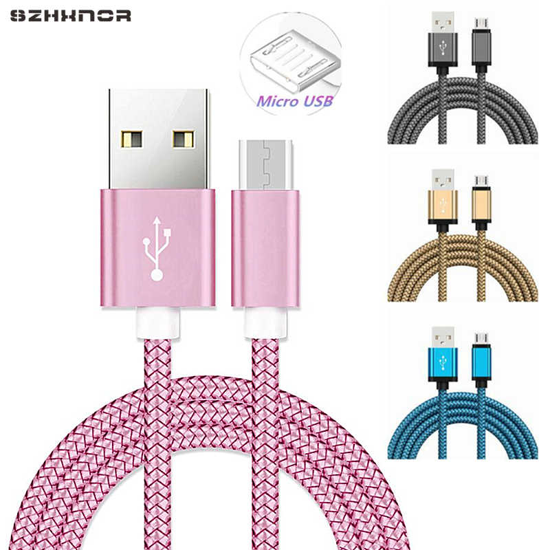 0.2M Short Nylon Micro USB Fast Charger Date Transfer Cord for Samsung Galaxy E7 E5 A7 A5 A3 J7 J5 J1 2015/2016 HTC LG Charging